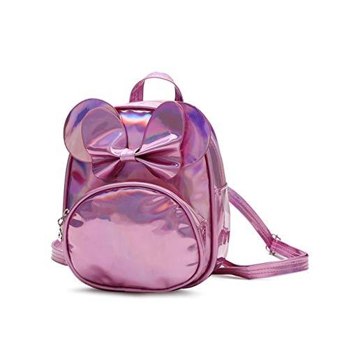 EVAEVA-bags Mini Mädchen Einfarbig Laser Bow Rucksack Lässig Wasserdichte Schultasche Reise Daypacks Kleine Geldbörse Für Jugendlich Mädchen - Mädchen Rosa Cleopatra Kostüm