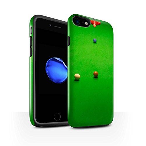 STUFF4 Glanz Harten Stoßfest Hülle / Case für Apple iPhone 8 / Blaue Kugel/Rack/Rosa Muster / Snooker Kollektion Baulk
