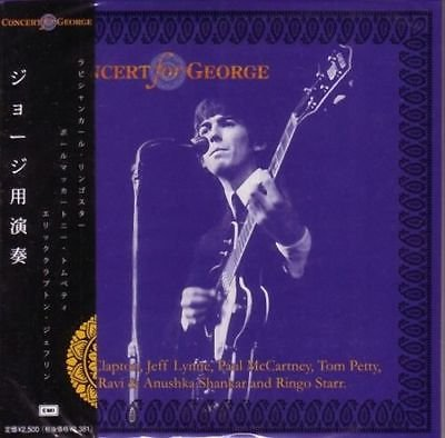 2CD Concert for George George Harrison Tribute (Jeff Lynne/Tom Petty,Eric Clapton) 2CD MINI LP with OBI POSTERS