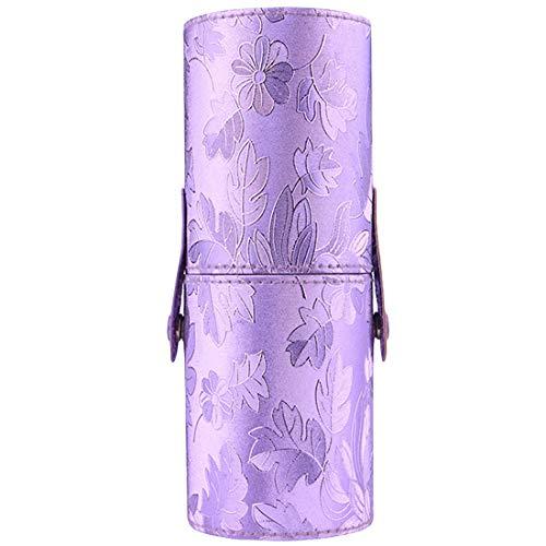 Maquillage pinceaux stylo stockage brosse cosmétique sac brosses conteneur portable PU voyage en cuir