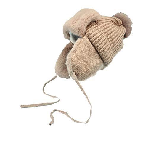 Kostüm Frauen Dickens - Nosterappou Hut weibliche Herbst und Winter dicken einfarbigen Hut, Radfahren Winddicht Wolle Hut Gehörschutz Ohrenschützer, Ohrenschützer Schutzkappe, einfarbig Hut Farbe, Casual Dame