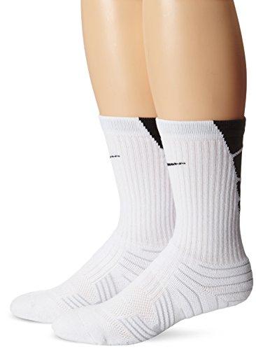 Nike Elite Performance Fu?ballsocken - 2er Pack (Medium, WEISS / (STEALTH) / WEISS / (STEALTH))Nike Dreiviertel-?rmel Graphic Top Womens Gr??e M (Crew 2 Pack Sock Basketball)