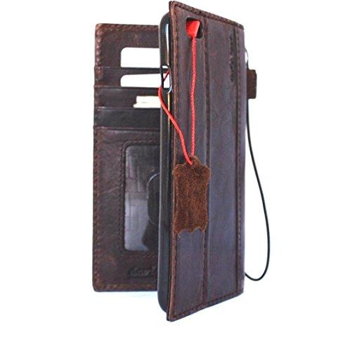 Fait à la main en cuir véritable Vintage Étui de sécurité pour Apple iPhone 3S Plus Rétro Portefeuille Lite pour carte d'identité