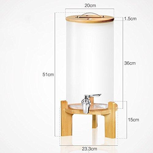 ier & Wein, Hochtemperaturbeständige hausgemachte Flasche Glas, Saft trinken Dichtung Flasche Fass Dosen, transparentem Glas 9000 ML, mit Keramikkern Wasserhahn (Fermenter Bier)