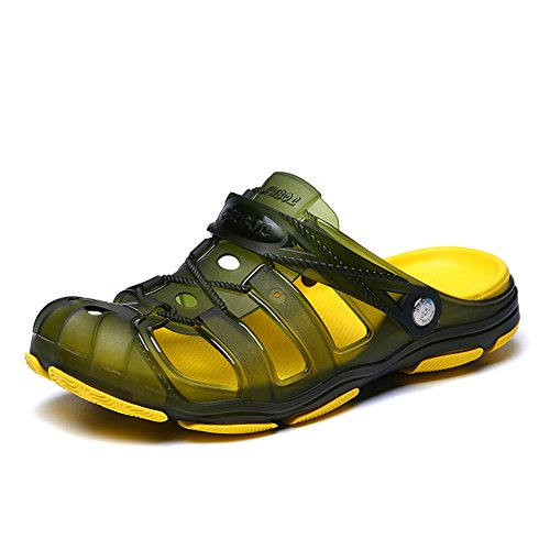 Sitaile uomo zoccoli sabot sandali da spiaggia estate ciabatta infradito pantofole clogs scarpe da acqua giardino mare outdoor antiscivolo traspirante b verde 41