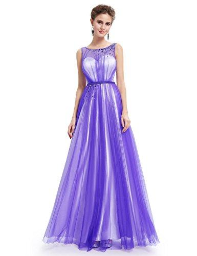 Ever Pretty Damen Elegant V-Ausschnitt Ärmellos Lang Abendkleid 08697