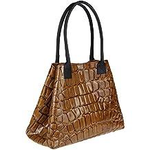763e17eea56f9 Made Italy Leder Damen Henkeltasche Umhängetasche Tasche City Bag Shopper  Schultertasche Reisetasche Weekender Strandtasche 46x28x16 cm