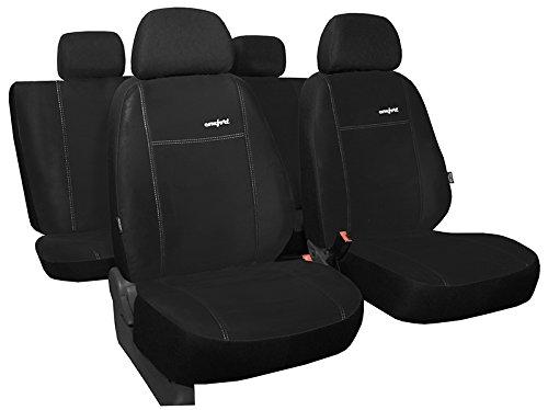 POKTER-ALC Für Ford Focus I 1998-2003 PKW-Sitzbezüge Comfort in ALKANTRA-Sitzfläche - 1998 Sitzbezug Ford