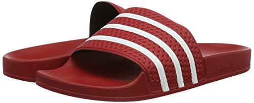 adidas Originals Adilette 288193, Unisex-Erwachsene Dusch- & Badeschuhe, Rot (Light Scarlet/Weiß/Light Scarlet), EU 38 -