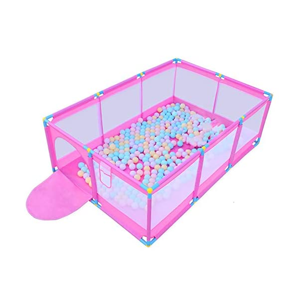 Pink Large Baby Playpen - Portable Infant Toddler Security Fance ,10-Panel Twins Ocean Ball Pool (Size : Playpen) Playpens  1
