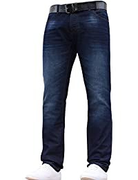 Crosshatch JEANBASE New Mens Designer Branded Slim Fit Jeans Pants Trousers All Waist and Leg Sizes