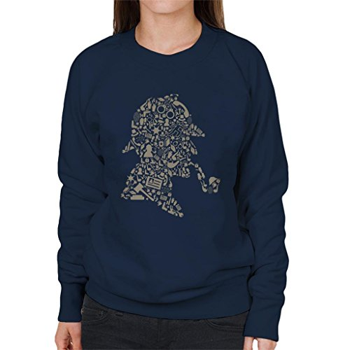 Cloud City 7 Sherlock Holmes Collage Women's Sweatshirt