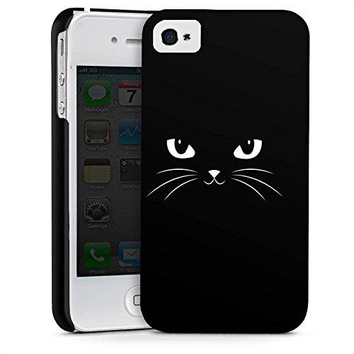 Apple iPhone X Silikon Hülle Case Schutzhülle Black Cat Katze Kater Premium Case glänzend