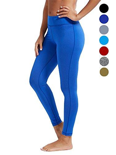 dh Garment Sportleggings Damen hohe Taille Laufhosen mit Bundtasche – Bauchkontrolle (Größe XL)