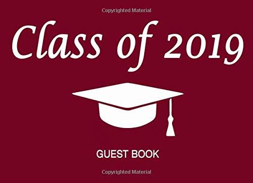 Class of 2019 Guest Book (Graduation Cap & Tassel - Maroon & Gold, Band 1) (Maroon Und Gold Ballons)