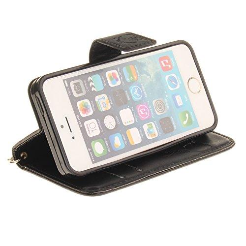"""Coque, cowx PU Etui en cuir pour iPhone se (4"""") Étui de protection en cuir iPhone se, se étui portefeuille pour iPhone iPhone se Case, poche Fonction support se poches Bols Foto14"""