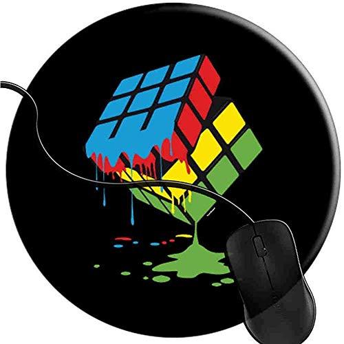 Puzzle-Algorithmus Genius Mauspad Gaming rutschfeste Gummibasis Komfort-Mauspad Langlebig Genähte Kanten Rundes Gaming (0,3 cm * 20 cm * 20 cm) -