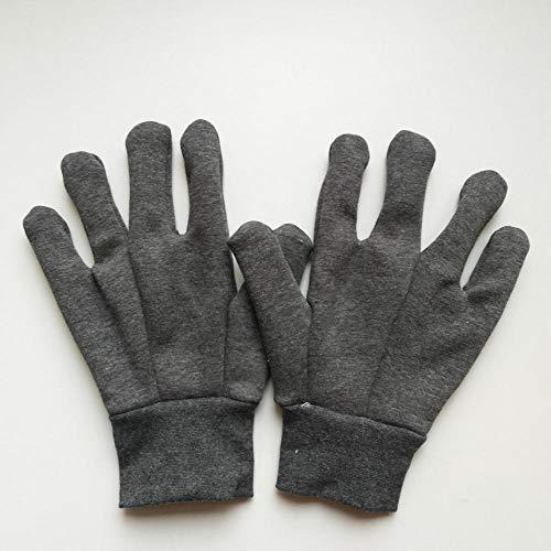 Velvet Garden (Man and woman safety work gloves (12 pairs) flannel warmth thickening workshop cold storage garden plus velvet Garden gloves, leather gloves, protective gloves,)