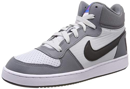 Nike Court Borough Mid (GS), Scarpe da Basket Bambini e Ragazzi, Grigio (Cool Grey/Anthracite/Pure Platinum 009), 39 EU