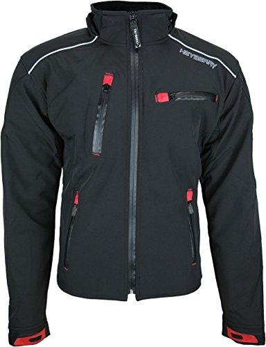 Heyberry Soft Shell Motorradjacke Textil Schwarz Gr. L - 2