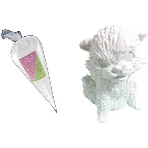 figuras kawaii porcelana fria Cleopatre WeCreme - Crema porcelana fría para imitar la nata, 300 gr, color blanco