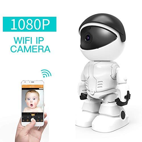 Ydq WiFi Cámara IP/Cámara De Vigilancia/Cámara Seguridad Y Inalámbrica HD 1080P/Vigilabebes Baby Monitor IR Visión Nocturna Admite Tarjetadetección De Movimiento con Vista Remota