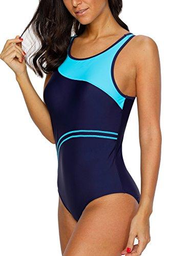CharmLeaks Damen Einteiler Figuroptimizer Sport Badeanzug AirLane 3178 Blau