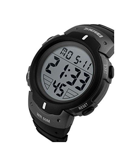 hukoer-outdoors-unisex-led-digital-multifunction-sport-watch-water-resistant-silver