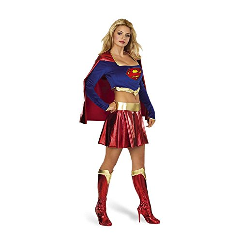 Supergirl Damen Comic Kostüm aus Superman, Rock, Top, Cape, Stulpen - M (Supergirl Kostüm Cape)