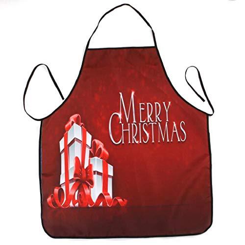 Weihnachten Schürze Party Dinner Wasserdichte 3D Druck Schürze Festliche Weihnachtsdekoration Kochschürze Latzschürze Kochen Küche Schürze BBQ Weihnachten Geschenk Neuheit für Kinder Frauen Männer