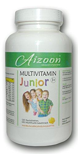 120 Kautabletten Vitamin Junior Multivitamin Tabletten Multifrucht Kinder 105035D -