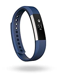 Fitbit Alta Fitness Tracker, Large (Silver/Blue)