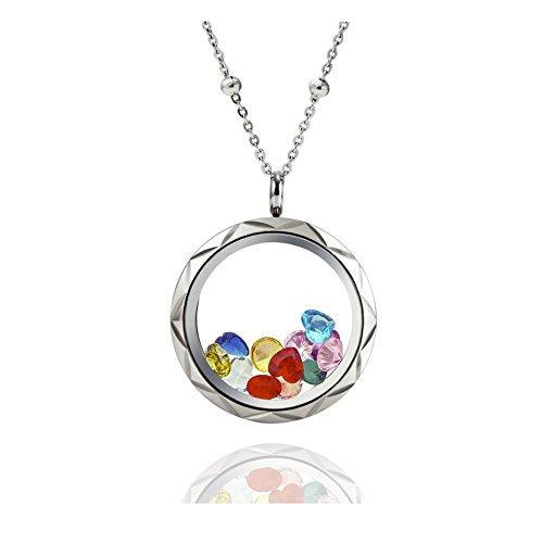everlead-living-memory-diamond-cutting-screw-floating-locket-pendant-316l-stainless-steel-toughened-
