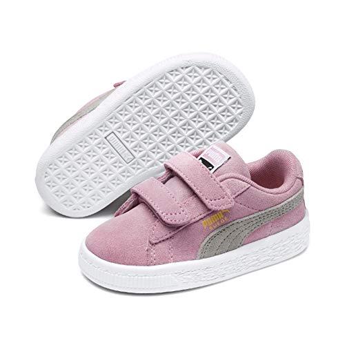 PUMA Unisex-Kinder Suede 2 straps PS Sneaker, Pink (Pink Lady-Puma Team Gold), 34 EU ( UK)