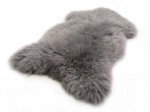 Lammfell Schaffell grau echtes Fell ökologisch gegerbt