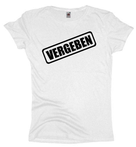 Ma2ca - JGA Vergeben - Girlie Damen Jungesellenabschied T-Shirt -white-xxl