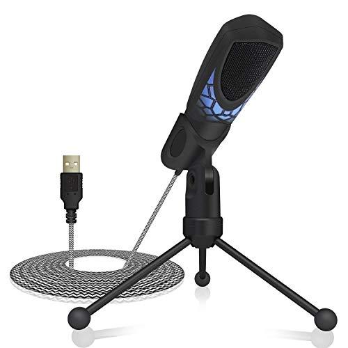TONOR Microfono per PC Professionale per Registrazioni Laptop Windows e Mac con Tecnologia di Riduzione del Rumore