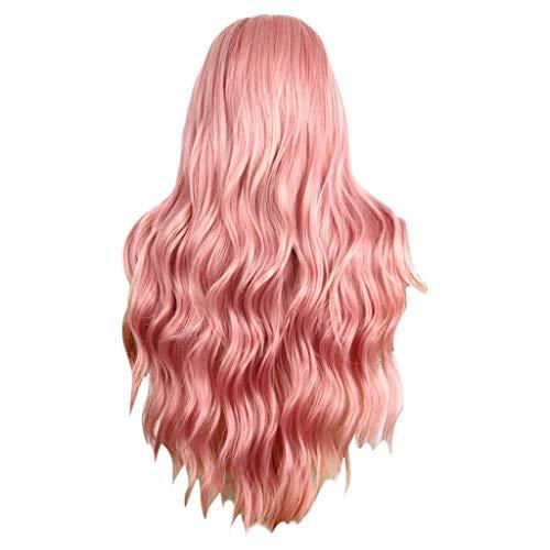 JXQ-N Damen Perücke Haarteile Frauen Mode Gewellte Sexy Lange lockiges Haar Handmade Dainty Natürlich Aussehende Glueless Hitzebeständige für Karneval Party ()