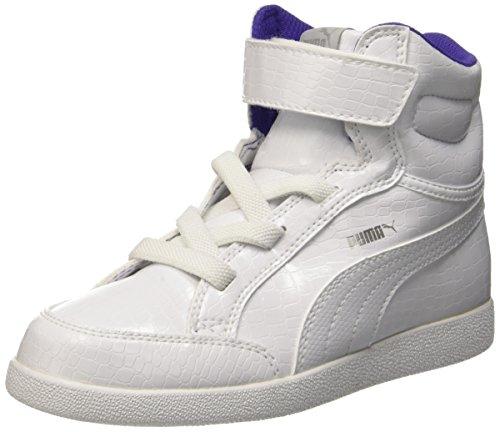 Puma Ikaz Mid Serpent V Ps, Sneaker Children and Teenagers (Gymnastics), Bianco/Bianco, 1 EU