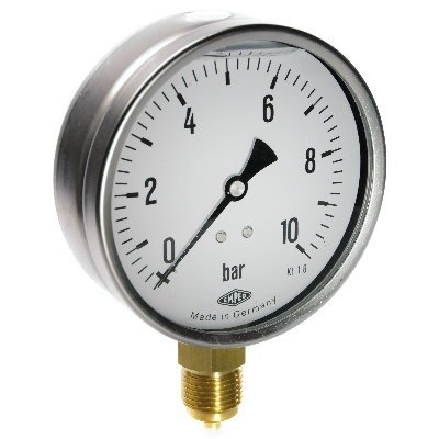 Manometer, NG100, -1-0-1,5bar, G1/2