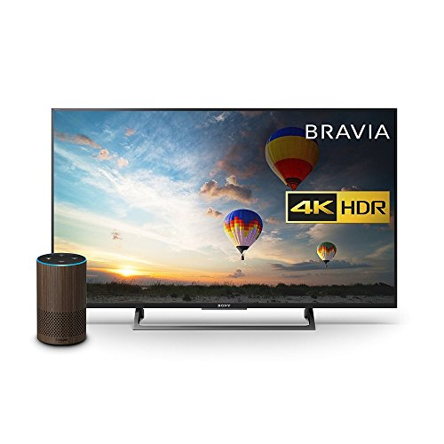 Sony Bravia KD43XE8004 43 inch TV, Black with All New Echo (2nd Generation), Walnut Finish Bundle