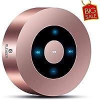 XLEADER SoundAngel (2.ªGen) Altavoz Bluetooth con Sonido HD 5W, diseño Táctil 15h música, Pequeño Altavoces Bluetooth Portátil para iPhone iPod Regalo, Oro Rosa [Estuche Impermeable Oficial Incluido]
