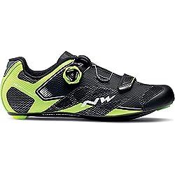 Northwave Sonic 2 Plus Rennrad Fahrrad Schuhe schwarz/gelb 2018: Größe: 43