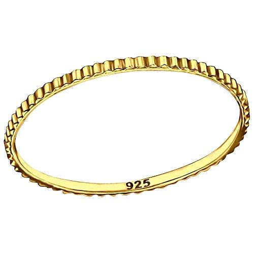 So Chic Schmuck - Ring Annular Oberfläche Vermeil (Gelbgold auf Silber) -
