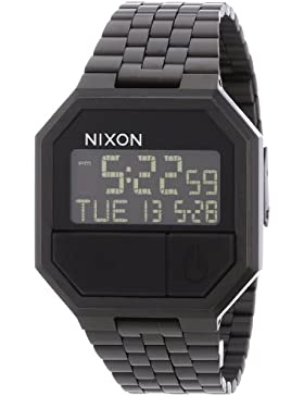 Nixon Unisex-Armbanduhr Re-Run Digital Quarz Edelstahl beschichtet A158001-00