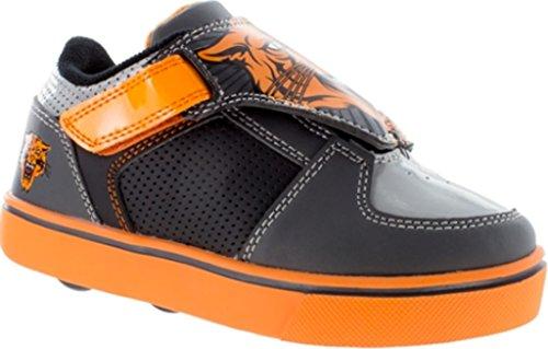 Heelys Kids Twister X2 Gry/Blk/Org Smlea Sneaker Grey/Black/Orange