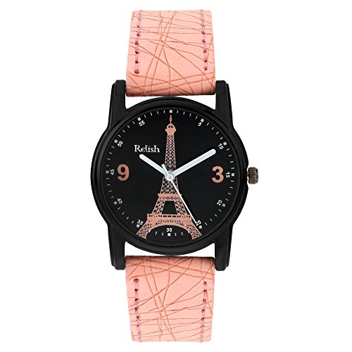 Relish Analog Eiffel Tower Black Dial Watches for Girls & Women RE-L064PT