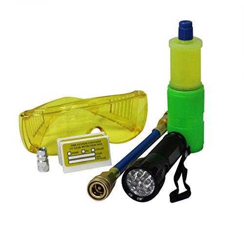 Mastercool 53587 schwarz 17-led UV Taschenlampe Kit mit 10-application Universal A/C Dye Kit (Plug Ultra-drain)