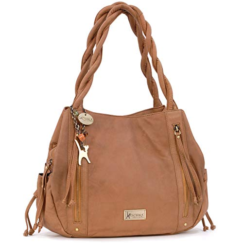 Echt-leder-handtasche Tote Bag (Catwalk Collection Handbags - Leder - Umhängetasche/Shopper/Tote - CAZ - Hellbraun)