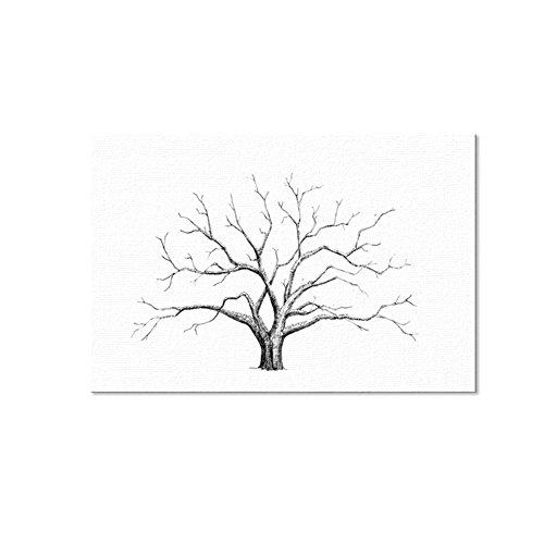 bdrsjdsb DIY Fingerprint Baum Unterschrift Leinwand Malerei Gästebuch Hochzeit Wand-Dekor